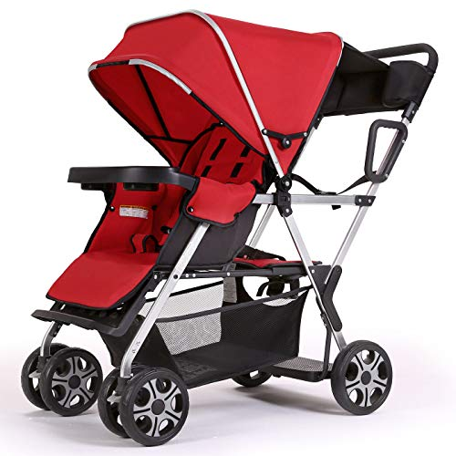 Best Deals! Double Stroller Convenience Urban Twin Carriage Stroller - Cynebaby Tandem Collapsible S...