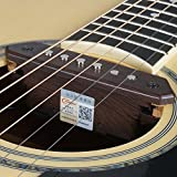 TYLANHUA Acoustic Folk Guitar Pickups,10-Feet Straight to Right Angle FREE Guitar Cable,Passive Magnetic Soundhole Pickup Transducer Microphone Wire Amplifier Speaker-Humbucker(A810)