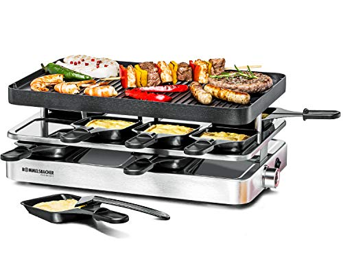 Rommelsbacher RC 1400 Raclette Grill, Aluminio