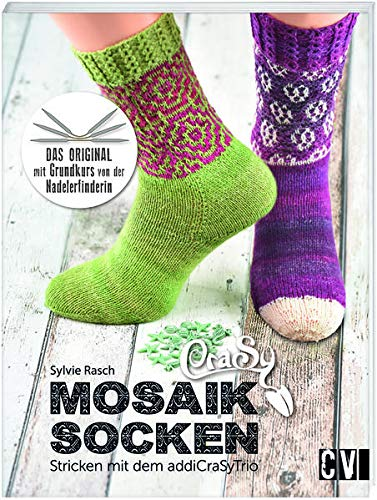 CraSy Mosaik - Socken Stricken mit addiCraSyTrio