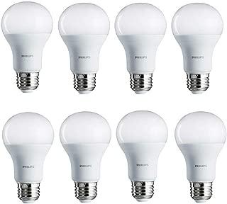 Philips LED Non-Dimmable A19 Frosted Light Bulb: 1500-Lumen, 2700-Kelvin, 14.5-Watt (100-Watt Equivalent), E26 Base, Soft White, 8-Pack