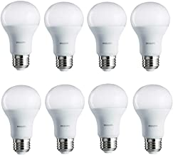 Philips LED Non-Dimmable A19 Light Bulb: 1500-Lumen, 2700-Kelvin, 14-Watt (100-Watt Equivalent), E26 Base, Soft White, 8-Pack