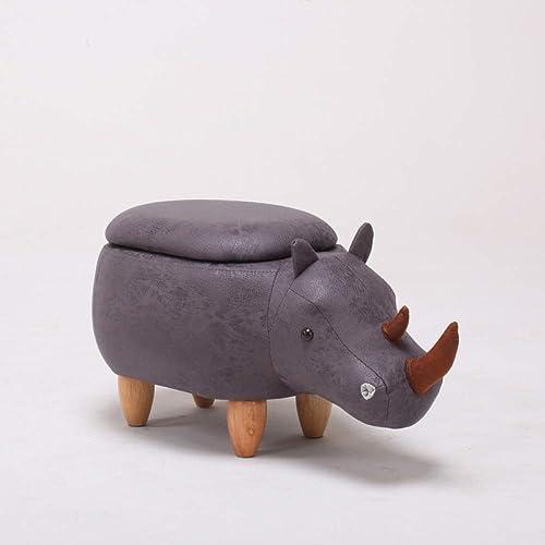 Monthyue Pouf Tabouret, Pouf Animal Repose-Pieds Tabourets Bas Poufs Chaise Assise Coussin Pieds Tabouret,Bronze-Storage