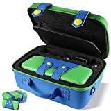 XCSOURCE Carrying Storage Case Compatible with Nintendo Switch System,Cute and Deluxe,Protective Hard Shell Carry Bag for Nintendo Switch Console and Accessories(Green)