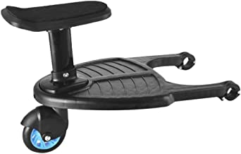 Comfort Wheeled Board - Child Rider Stroller Attachment with Saddle Seat and Standing Platform - Universal Fit for Most Prams - Quick and Easy to Use - Designed for Safety (Blue)