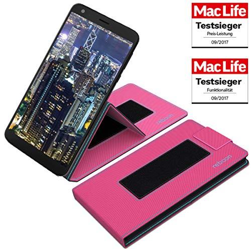 reboon Hülle für Sharp B10 Tasche Cover Case Bumper | Testsieger | Pink
