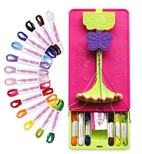 Choose Friendship, My Ultimate Friendship Bracelet Maker Kit, 56 Pre-Cut Threads, Full Size (Bracelet Making Kit, Kids Craft Kit, Jewelry Kit, Best Friend Bracelets, Gifts for Girls and Boys)