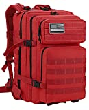 Luckin Packin Tactical Backpack,Military Backpack,Molle Bag 45 Liter Large (Red)