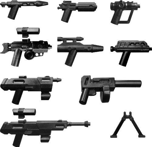 Little Arms Waffenset DC-15 DC-17 Rex Blaster Sniper Scout Pistol Insgesamt 9 Waffen