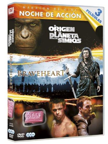 Origen Del Planeta De Los Simios + Braveheart + El Club De La Lucha (import) (dvd) [Dv