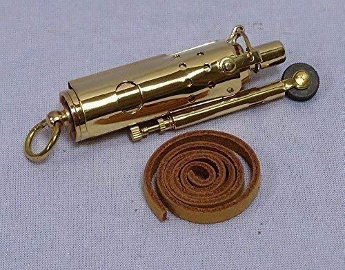 linoows Antikes Französisches Sturmfeuerzeug, Retro Benzin Feuerzeug Messing