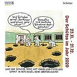 Schütze Mini 2020: Sternzeichenkalender-Cartoon - Minikalender im praktischen quadratischen Format 10 x 10 cm.