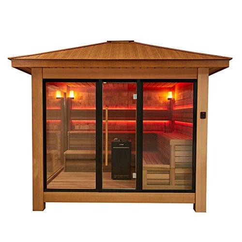 EO-SPA Sauna LT1416A rote Zeder/350x350/13.5kW Vitra Combi