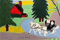 Maud Lewis ジクレー 紙に印刷-有名な絵画 美術品 ポスター-再生 壁の装飾(不明4) #XZZ