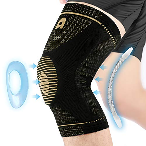 Professional Knee Support Brace for Men and Women, Breathable Knee Compression sleeve with Gel Pads...