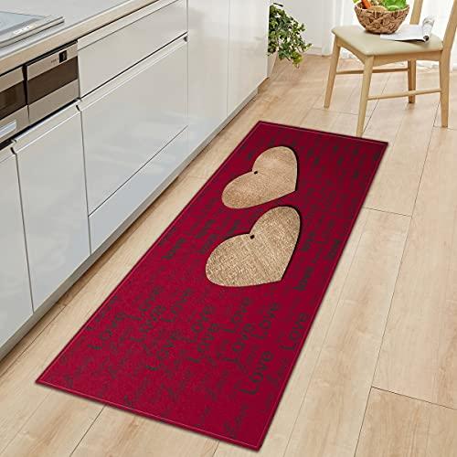 WESG Alfombrillas para el hogar, alfombras Antideslizantes de Cocina Impresas en 3D, alfombras para Puertas de Entrada Interiores, alfombras para Sala de Estar Que se Pueden Lavar NO.15 50X160cm