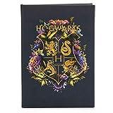 Hogwarts Bloc de notas floral, 200 páginas con forro, ideal para la vuelta a la escuela, el hogar o la oficina