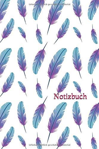 Notizbuch: Feder Lila( 120 Seiten ) DIN A 5 Lila Federn Skizzenbuch, Zeichenbuch, Tagebuch, Notizblock, Punktraster