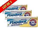 Fixodent - Fixodent Pro - Duo Action - Longue Durée - Plus Fort - Lot de 3 tubes