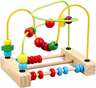 Mumoo Bear Baby Toy Counting Bead Educational Toys Abacus Maze Roller Coaster Wooden Baby Toy