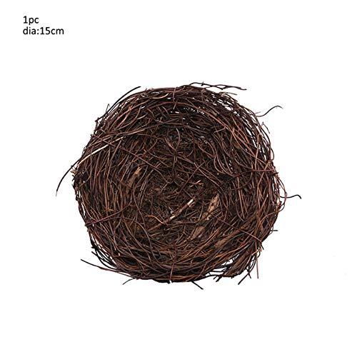 10-30 cm Pasen Home Decor Natuurlijke Rotan Krans Bruiloft Krans Ambachten Vrolijk Pasen Decoratie DIY Craft Lente Bruiloft Kransen, 1 st 15 cm
