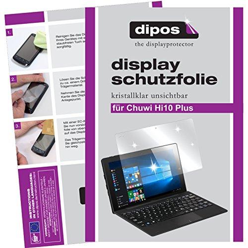 dipos I 2x Protector de Pantalla compatible con Chuwi Hi10 Plus pelicula Protectora Claro