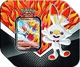 Pokemon Galar Partner Tins - Cinderace V | 5 Booster Packs | Genuine Cards, Multicolor