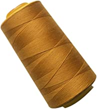 Ogquaton Premium Quality Polyester Jeans Sewing Thread Sewing Line for Sewing Machine 3000 Yards 20S 2 Ideal for Quilting Stitching Hand Sewing Machine Sewing Golden Stationery Office Supplies