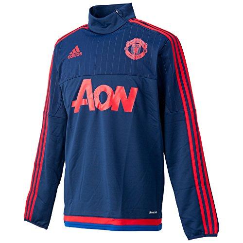 adidas Herren Manchester United Trainingsoberteil - blau Trainingsshirt, Dkblue/Scarle/Croyal, XS