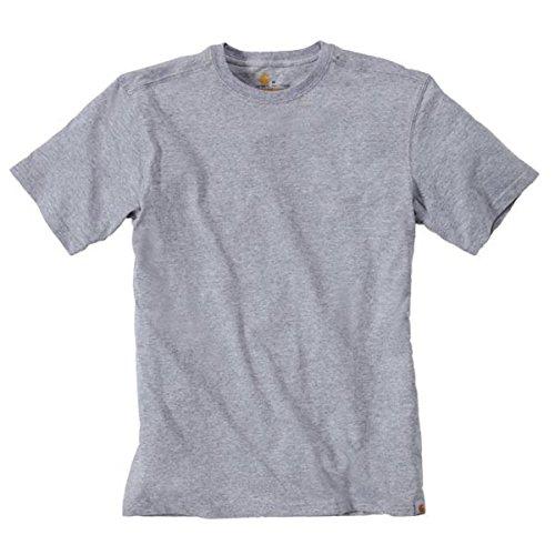 Carhartt Big & Tall Maddock kurzärmeliges T-Shirt Ohne Taschen für Herren, Heather Grey, L