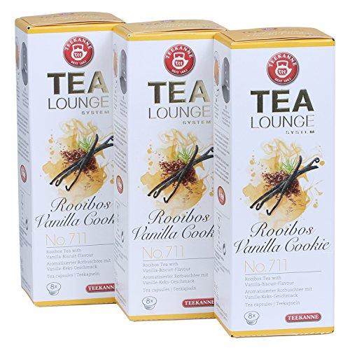 Teekanne Tealounge Kapseln - Rooibos Vanilla Cookie No. 711 Rooibos Tee (3x8 Kapseln)