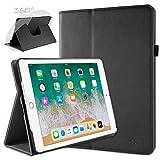 doupi Deluxe Schutzhülle für iPad 2017/2018 (5. / 6. Generation), Smart Case Sleep/Wake Funktion 360 Grad drehbar Schutz Hülle Ständer Cover Tasche, schwarz