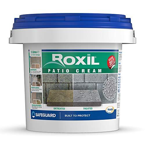 Roxil Crema de Patio - Pintura Impermeabilizante Terrazas, Pavimentos, Patios, Baldosas y Losetas (3 Litros)