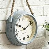 FortuneVin Reloj de Pared Modernos Elegante RelojReloj de Pared Minimalista Moderno nórdico Sala de Estar Cuerda de Metal Relojes de Cuarzo Colgantes 8 Pulgadas Azul Cielo