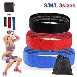 SPFAS Fitness-Bänder Widerstands bänder, Trainings-Hüfte-O-Ring elastische Stretching-Bänder 3er-Set, Stoff-Fitness-Schleifenkreis, Training für Bauchmuskeln, Kniebeugen, Beine, Po - Oberschenkel