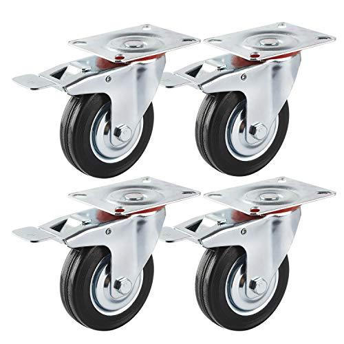 Set di rulli trasporto 200 mm piastra ruota in plastica CAVALLETTO ruolo lenkrolle FRENO
