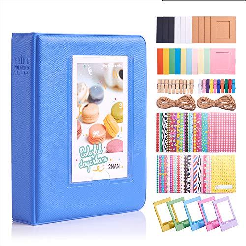 GORGECRAFT Juego de 88 álbumes de película de papel fotográfico de 2 x 3 pulgadas para mini cámara Polaroid Snap Zip Impresora instantánea, colores mezclados
