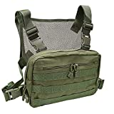 abcGoodefg Tactical Chest Rig, Molle Radio Chest Harness Holder Holster Vest for Two Way Radio Walkie Talkies (Green)