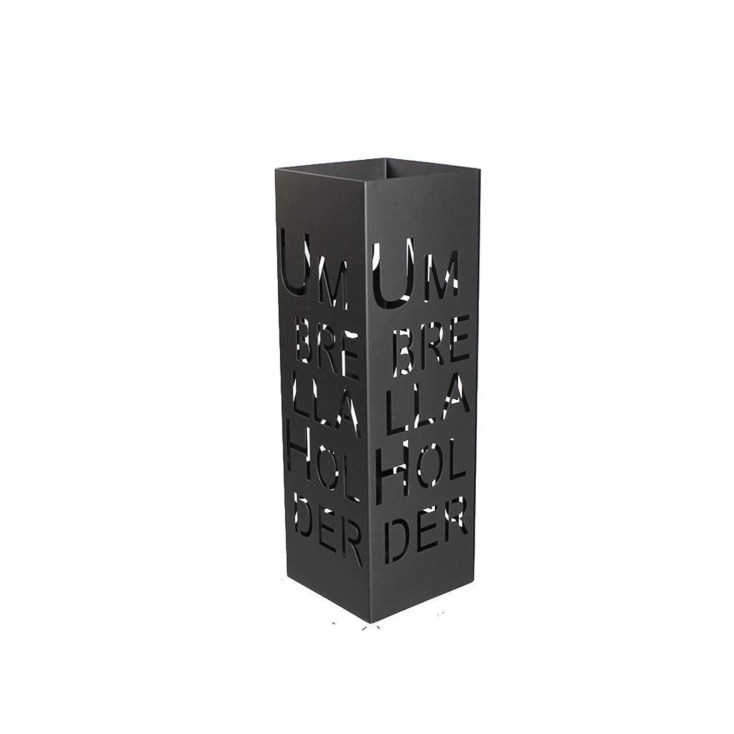 防衛牧師返還シェルフアース交換 ロビーの傘の錬鉄の貯蔵の棚/世帯の傘の置かれた貯蔵のバケツ/家の着陸の傘の立場/(色:黒)、色:白 (Color : Black)