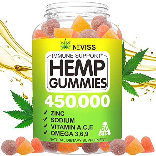 Vegan Ηēmp Gummiēs for Pain, Anxiety, Stress & Inflammation Relief, Sleep, Relaxing, Calm & Mood Support, 100% Natural Organic Hēmp Infused Gummiēs 450000-60 cts Hēmp Big Gummiēs, Made in USA