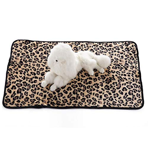 RCFRGV Kat en hond huisdierenbed Honden Katten Matraskussen Bed Handdoeken Bed Dekens Dekens Terylene Warm Opvouwbaar Zachte Luipaard Karakter Zebra Wit Zwart Luipaard