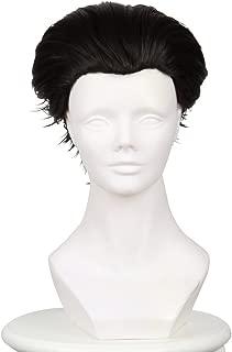 Cfalaicos Ace Attorney / Gyakuten Saiban Phoenix Wright Cos Wig Heat Resistant Fibre Hair Black Anime Cosplay Wigs