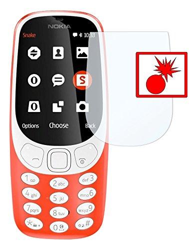Slabo 2 x Panzerschutzfolie kompatibel mit Nokia 3310 (2017) Panzerfolie Bildschirmschutzfolie Schutzfolie Folie Shockproof KLAR