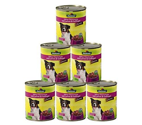 Dehner hondenvoer senior, lam en gevogelte, 6 x 800 g (4800 g)