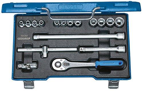 """GEDORE 30 GMU-10 Steckschlüssel-Satz 3/8"""" 17-TLG 6-19 mm"""