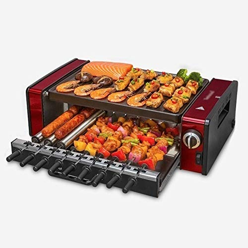 Amazing Deal CHENJIU Indoor Smokeless Grill Double Layer Household Electric Baking Pan,Double U-type...