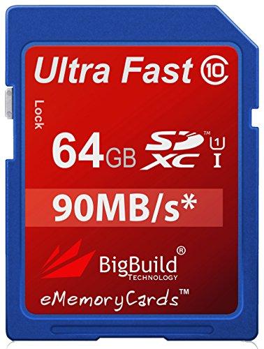 eMemoryCards 64GB Ultra rápido 90MB/s tarjeta de memoria SDXC para Nikon Coolpix P900Cámara