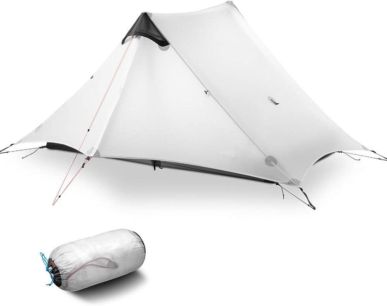BUYGLI Zelt Winter Summer Outdoor Beach Tent 3 Season Professional Trekking Pole Tent 2 Persons Ultralight Camping Tent