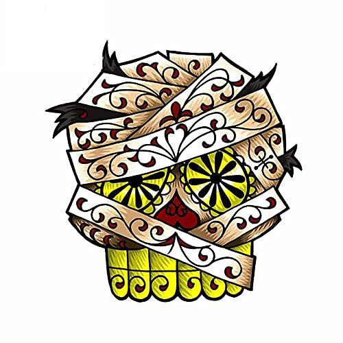 A/X 13 cm 12,4 cm para la Momia Sugar Skull Etiqueta engomada del Coche Motocicleta Casco Familia Creativa