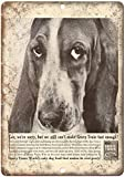 Collectible Wall Art 16X12 Gravy Train Dog Food Bassett Hound,Wall Sign Funny Iron Painting Vintage Metal Plaque Decoration Warning Sign Hanging Artwork for Bar Park